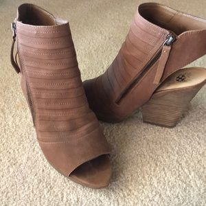 Vince Camuto Peep Toe Wedge Ankle Bootie